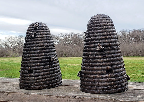 Bronze bee skeps by Deran Wright