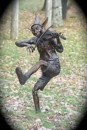 Frolicking Pixies, a sculpture group by Deran Wright