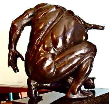 Minotaur bronze sculpture rear