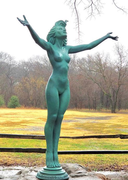 Aurora - Daughter of Hyperion bronze sculpture