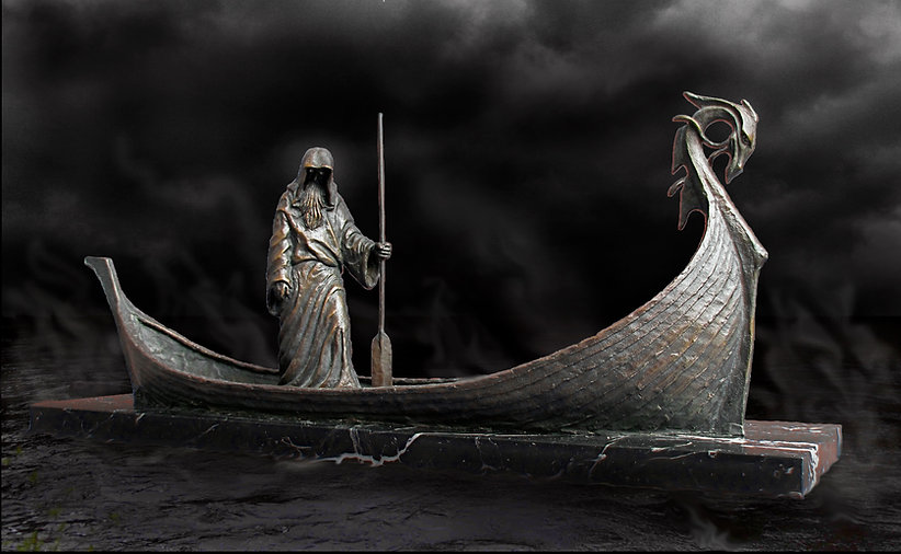Charon, the Ferryman over the river Styx, by Deran wright