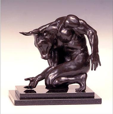 The Minotaur! bronze sculpture by Deran Wright
