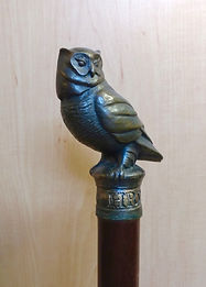 Owl walking stick by Deran Wright