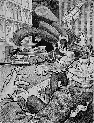 Batman and the Joker 1947 by Deran Wright