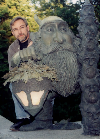 Deran Wright and a Nightwatch Gnome