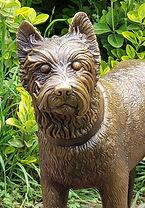 West Highland Terrier bronze sculpture by Deran Wright