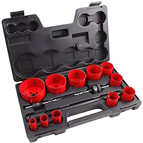 Combination hole saw kit