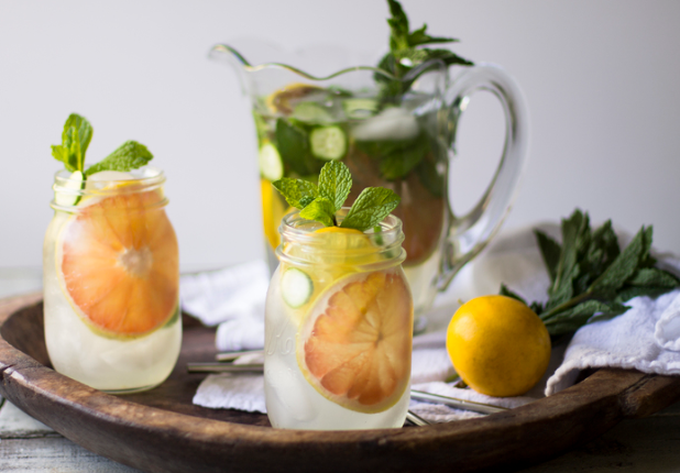 Grapefruit infused water