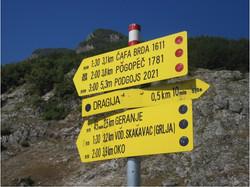 Signpost near Ali Pasha Springs