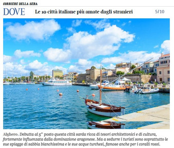 Alghero is the 5th most loved Italian city