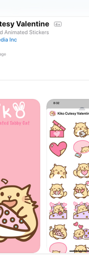 Kiko Cutesy Valentine 2020 iOS sticker pack app