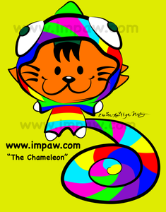 I M PAW Kiki cat webcomics 2019 Day 8 of 365 days daily art challenge the chameleon cat costume digital art illustration by Katmeister Adores Elaine-Kaitlyn Wong
