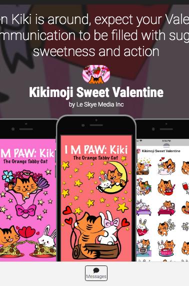 KikiMoji Sugary Sweetness 2020 iOS sticker pack app