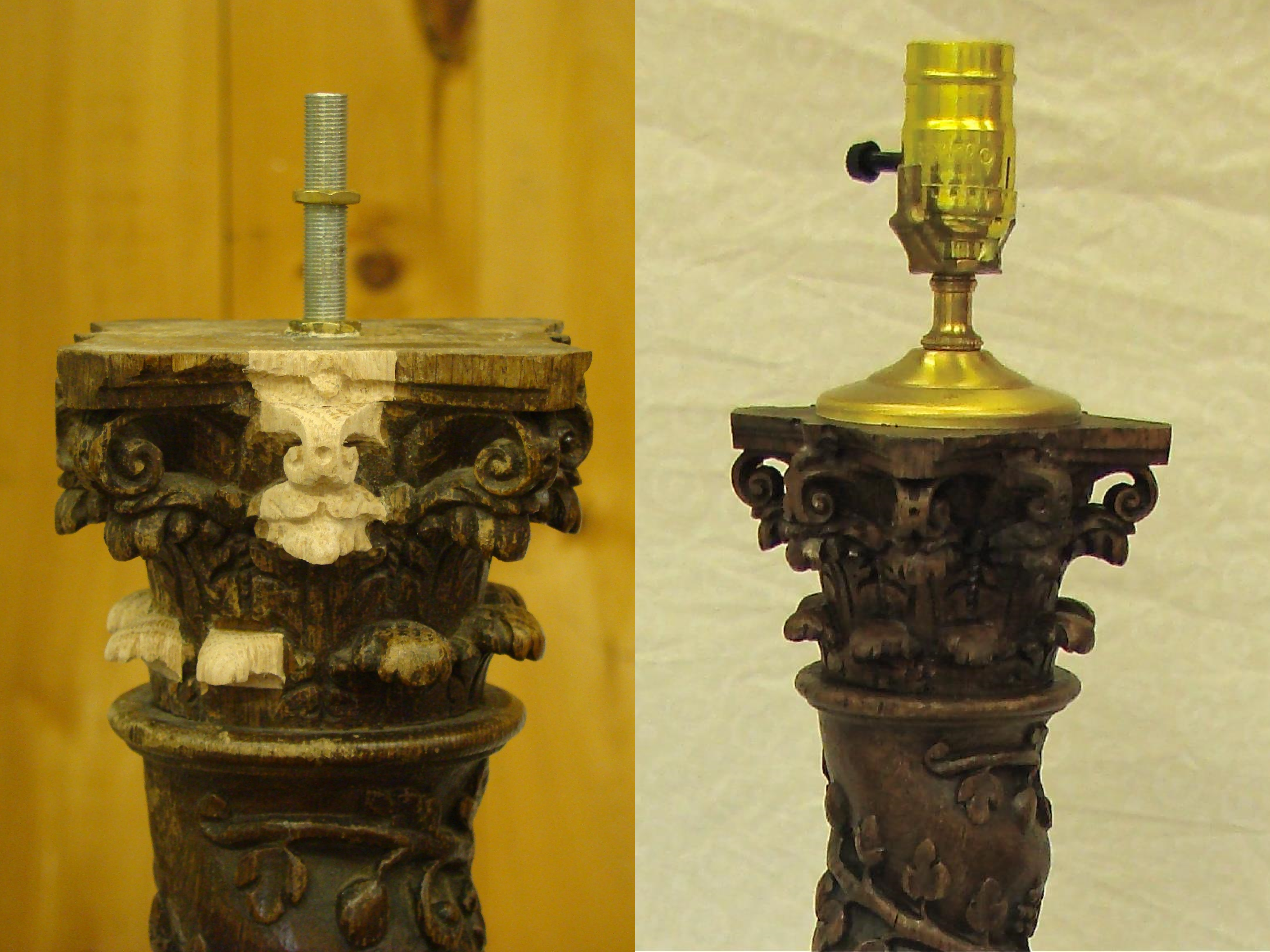 Lamp Base Restoration