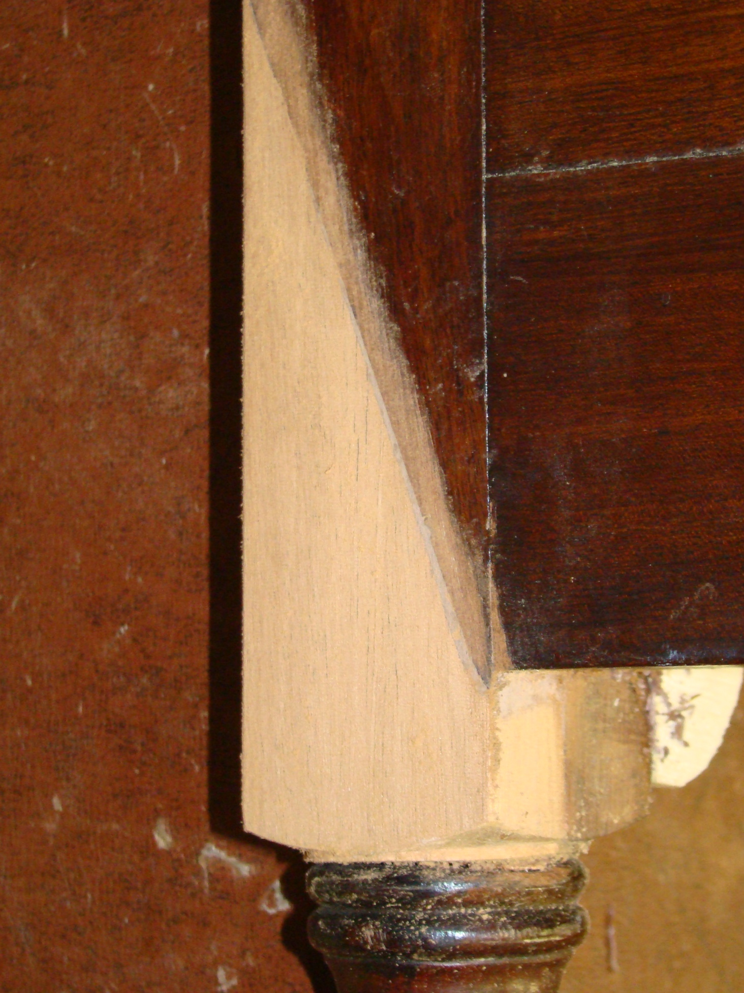 Sideboard Leg Repair