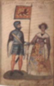 Robert_I_and_Isabella_of_Mar,_Seton_Armo