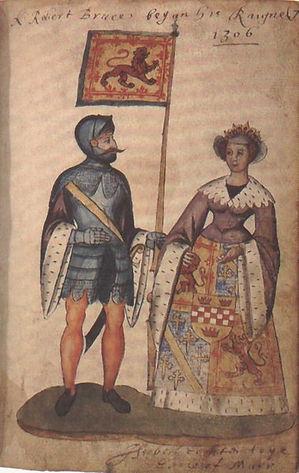 Robert_I_and_Isabella_of_Mar,_Seton_Armo
