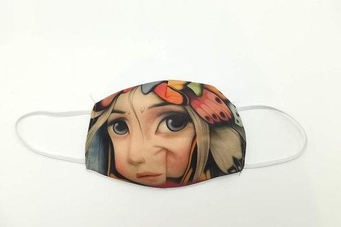 Μάσκα προστασίας προσώπου παιδική Κοριτσάκι