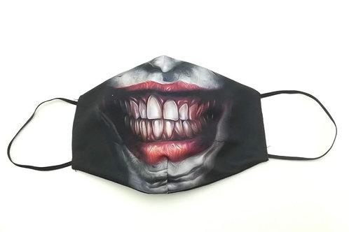Μάσκα προστασίας προσώπου ενηλίκων Μαυρη χαμόγελο Joker
