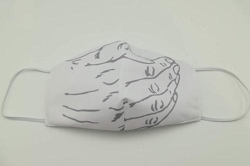 Μάσκα προστασίας προσώπου ενηλίκων Λευκό χέρι