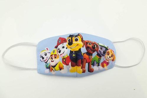 Μάσκα προστασίας προσώπου παιδική Γαλαζια paw patrol