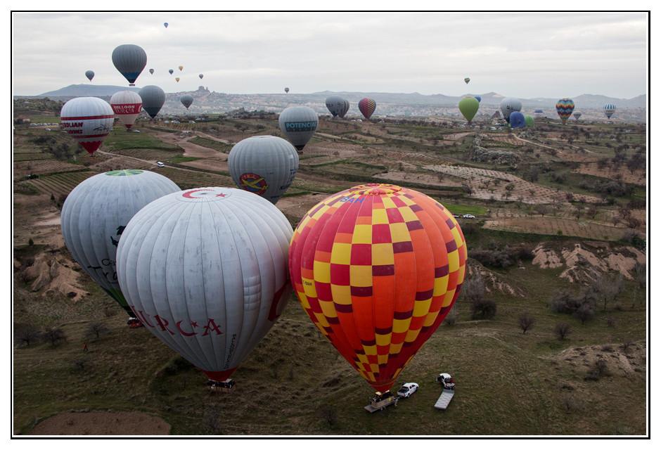 Ballonlandung in Kappadokien