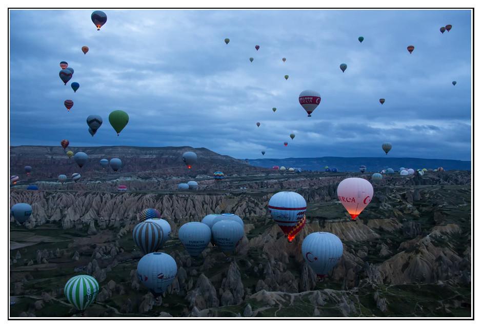 Heissluftballons in Kappadokine