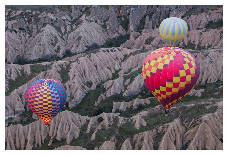 Heissluftballons in Kappadokien
