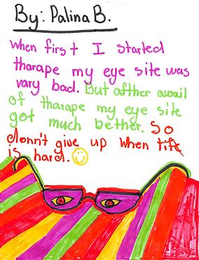 Amblyopia child success story