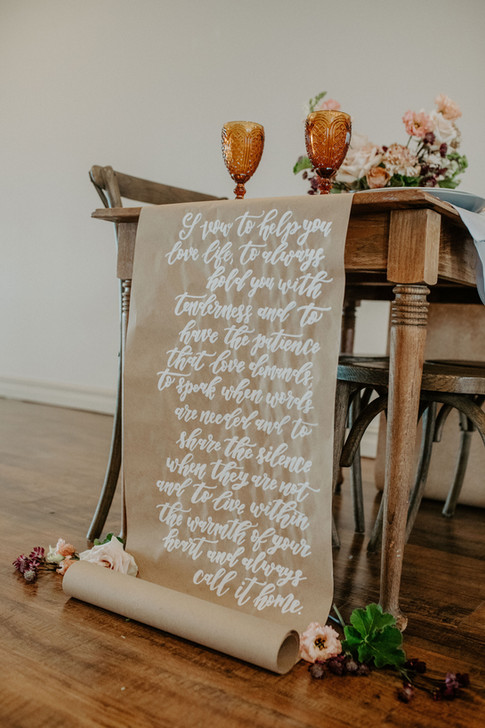 Calligraphy Table Scroll