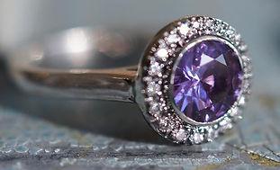Eclipse Custom Engagement Ring Purple Sapphire Luckette