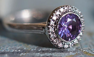 Eclipse Custom Engagement Ring Purple Sapphire Luckette