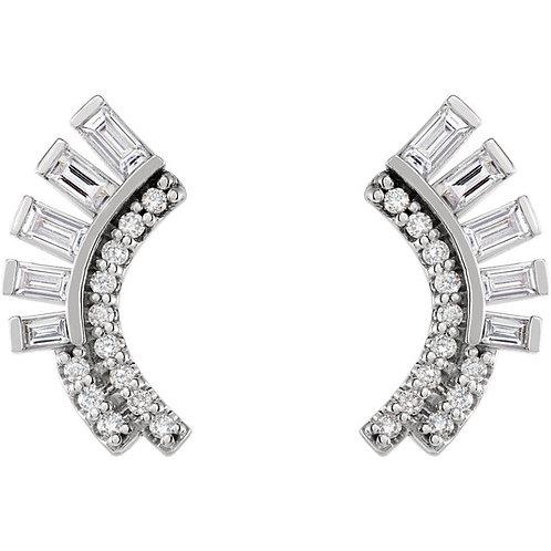 Pizzazz Diamond Fan Earrings