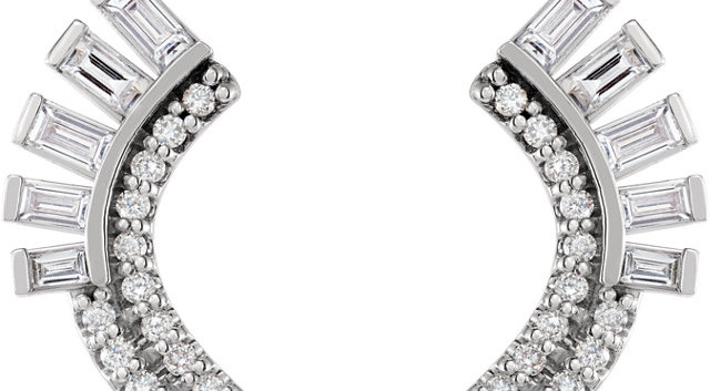 Pizzazz Diamond Fan Earrings