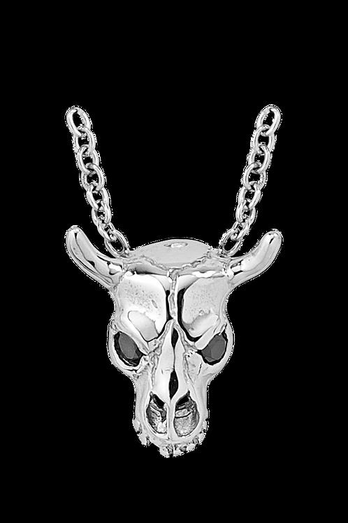 White Gold Cattle Skull