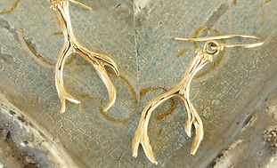Gold Antler Earrings Luckette