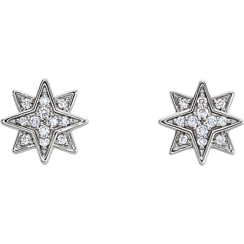 Diamond Pave Star Earrings