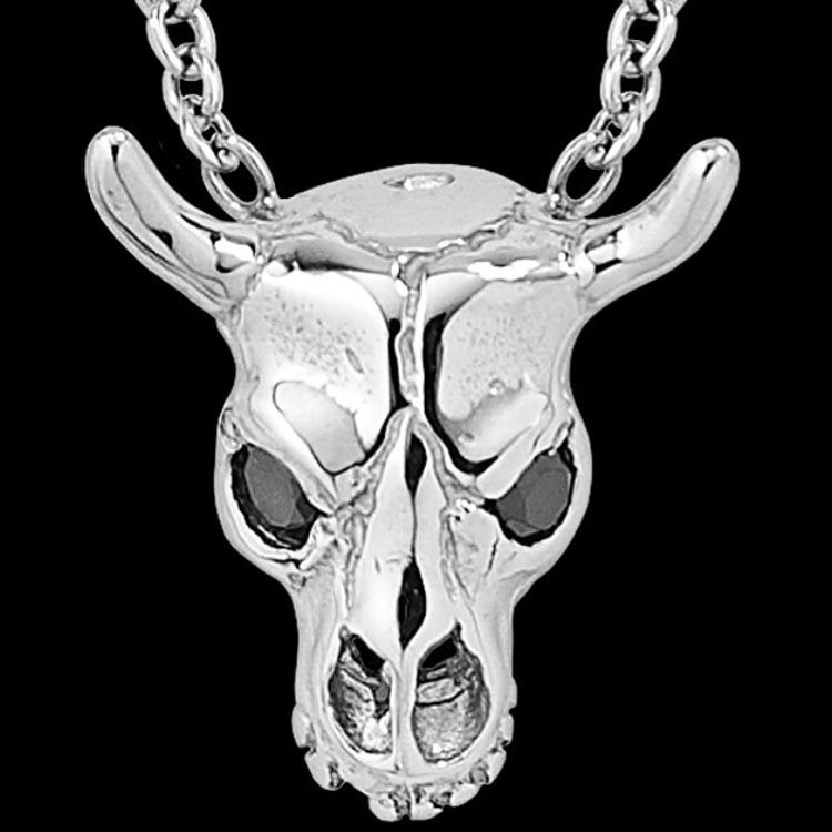White Gold Cattle Skull