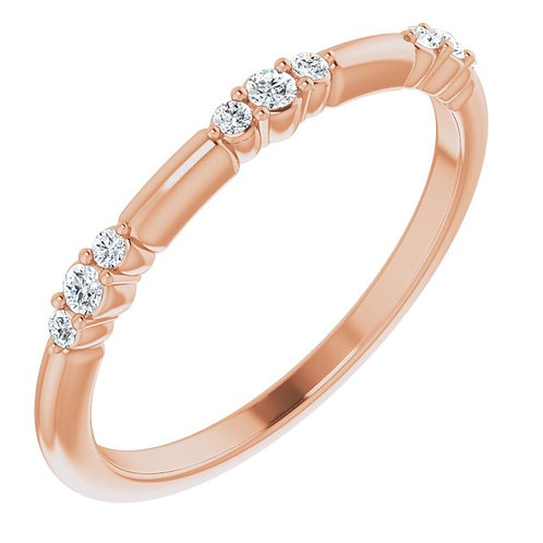 Contessa Diamond & Rose Gold Stackable Ring