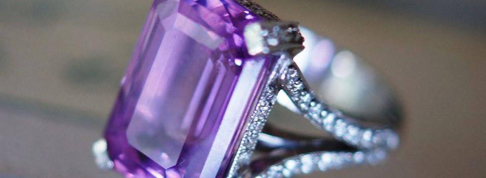 Pink Sapphire Custom Engagement Ring