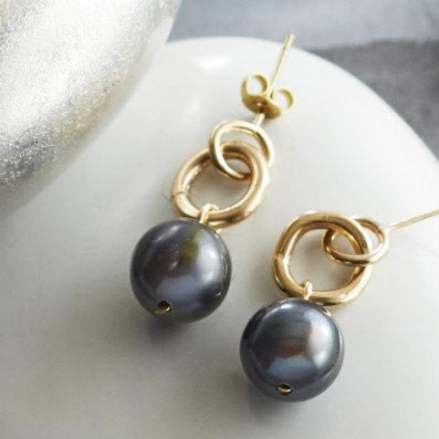 Tahitian Pearl Drop Earrings
