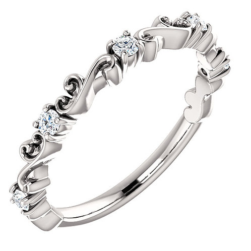 Diamond Sculptural Stackable Ring