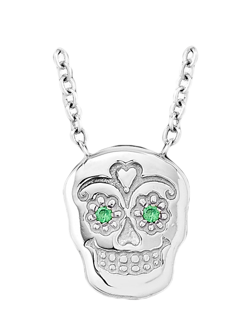 Sugar Skull White Gold