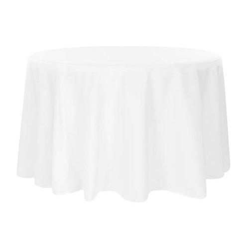 108 White Polyester Linen