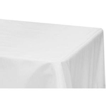90x156 White Polyester Linen