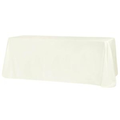 90x132 Ivory Polyester Linen