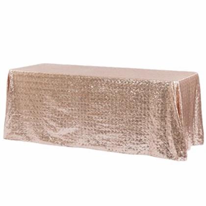 90x156 Blush Sequin Linen