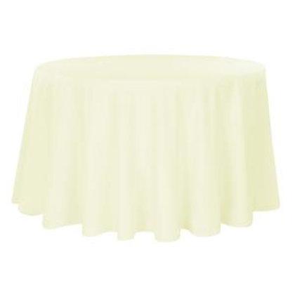 "132"" Ivory Polyester Linen"
