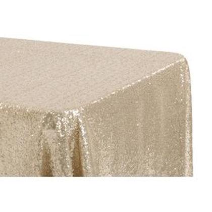 90x156 Champagne Sequin Linen