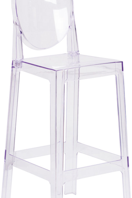 Ghost Barstool with Oval Back